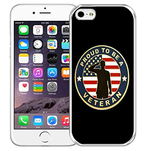 Military Flexible Case for iPhone 6S Plus,US Army Military iPhone 6 Plus Case Shockproof Slim Fit iPhone 6S Plus Case Veteran Patriotic iPhone 6 Plus Ultra-Thin Crystal Phone Case