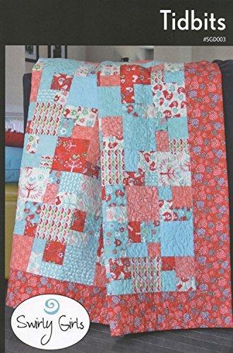 (Tidbits Quilt Pattern by Swirly Girls, 3 Size Options, Fat Quarter)