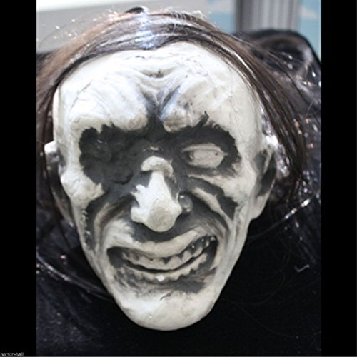 LifeSize Sculpted Styro Face ZOMBIE SEVERED HUMAN HEAD Ghoul DIY Prop (Ghoul Head Prop)