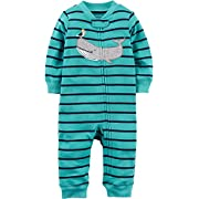 Carter's Baby Boys' Cotton Footless Sleep & Play (3 Months, Pocket Shark)