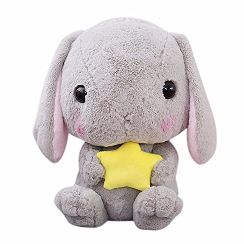 Faber3 Rabbit Stuffed Rabbit Fur Rabbit Big Ears Rabbit Cute Rabbit Plush Toy Rabbit Stuffed Animal Kids Doll Cute Soft Stuffed Animals Toy Doll,Best Birthday Gifts For The Children Kids (Gray)