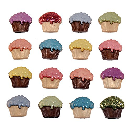 Jesse James Buttons (Jesse James (2-Pack) Dress It Up Buttons Party Collection #4618 Cupcakes 4618-2P)