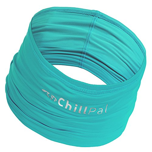Scarf Dog Clothing - Chill Pal 12 in 1 Multi Style Cooling Band (Teal, Full Size)