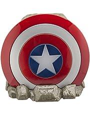 ekids Vi-B72CA Marvel Captain America schild Bluetooth draadloze luidspreker draagbaar rood/wit