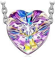 J.NINA Aurora 925 Sterling Silber Kette Damen mit kristallen von Swarovski Schmuck Geschenk Geburtstagsgeschenke Weihnachtsgeschenke Muttertagsgeschenke Valentinstag Geschenke für Frauen Freundin