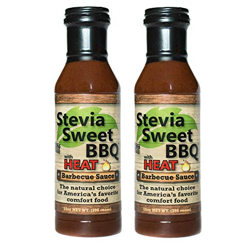 Stevia Sweet BBQ Sauce | Low Sugar (1g), Low Carb, Low Sodium, Gluten & Fat Free | Paleo & Keto Diet Friendly Barbecue Sauce | Zero Artificial Sweeteners (2 x 15 oz (2 Spicy))