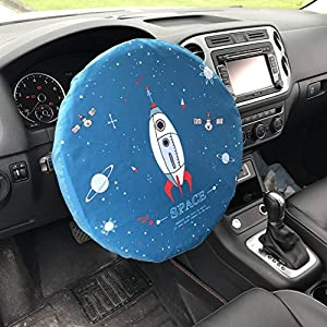 Steering Wheel Cover Car Shade,Cotton,15 Inch,Rocket