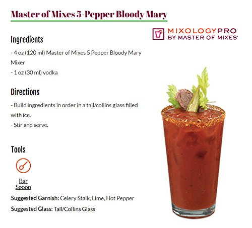 Master of Mixes 5 Pepper Extra Spicy Bloody Mary Drink Mix, Ready To Use, 1.75 Liter Bottle (59.2 Fl Oz), Pack of 3 by Master of Mixes (Image #5)