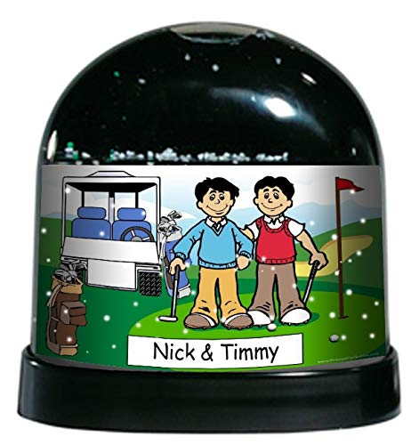 Printed Perfection Personalized Golfing Buddies Snow Globe Gift Golfer, Golfing, Golf Tournament, Trophy ()