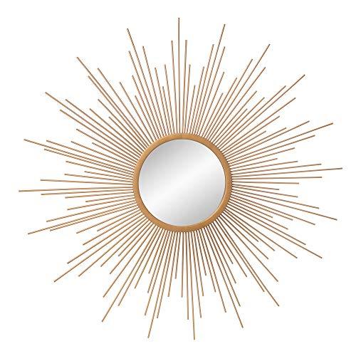 "30"" Gold Spoked Sunburst Wall Accent Mirror"