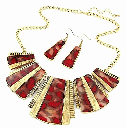Necklace Collar Bib and Hook Drop Earrings Sets for Women Girls Women Wedding Jewelry by Lowprofile (Necklace Drop Bib)