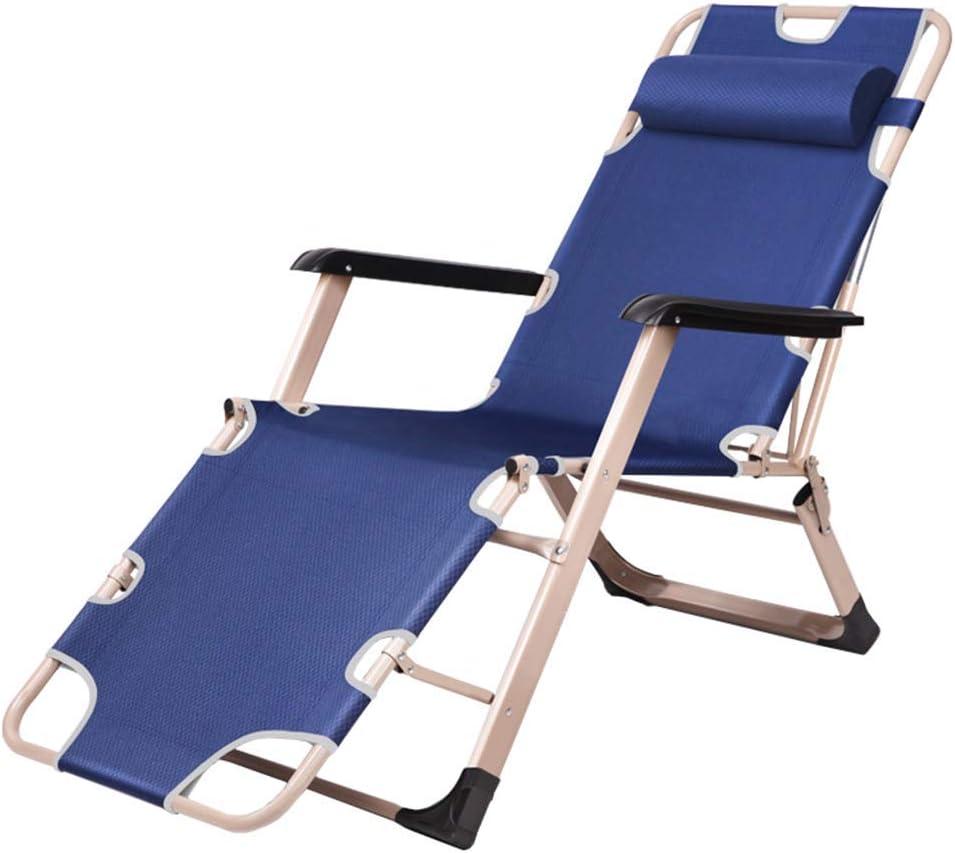 リクライニングガーデンサンラウンジャーリクライニングチェア屋外折りたたみ式無重力椅子調節可能な枕プールサイド屋外ヤードビーチデッキ用カップホルダー付き最大150kg-ブルー