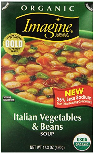 Imagine Organic Soup, Italian Vegetables and Beans, 17.3 Ounce (Pack of 12)