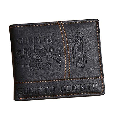 HOT!Men Paris LeatherWallet ,BeautyVan Fashion Men Paris Leather Card Cash Receipt Holder Organizer Bifold Wallet Purse (3 Case Samsung Galaxy S Paris)