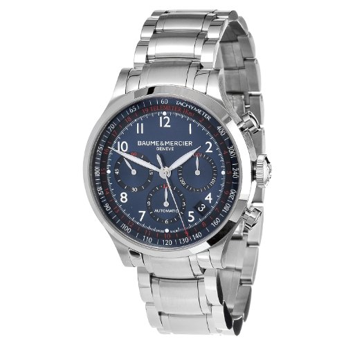 Baume & Mercier Men's MOA10066 Automatic Stainless Steel Blue Dial Chronograph Watch ()