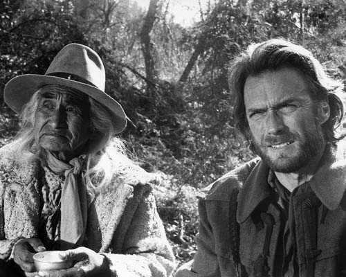 Clint Eastwood and Chief Dan George in The Outlaw Josey Wales 8x10 Promotional Photograph
