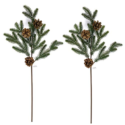 - Warmter Artificial Pine Branch and Real Pine Cone for Christmas and Holiday Decorations