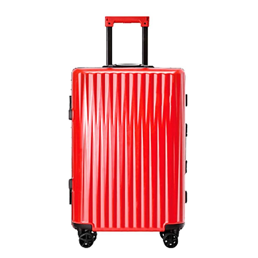 赤いトロリースーツケーススーツケース女性のユニバーサルホイール20インチトロリーケース潮男性の搭乗パスワードボックス54 * 21 * 34cmの   B07KRB2YZY