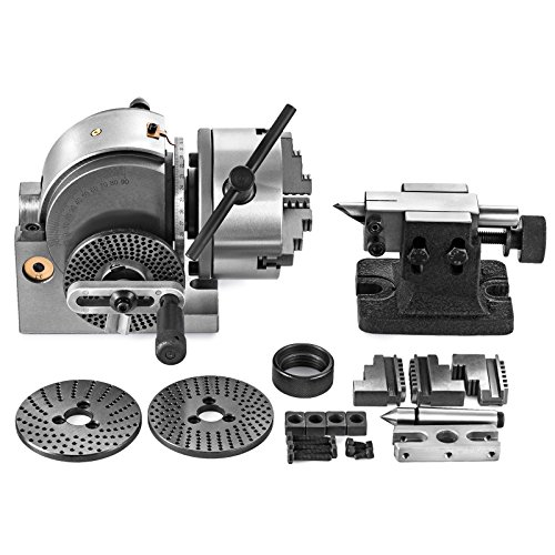 SHZOND Dividing Head Set 3 Jaw Lathe Chuck Dividing Head 5 Inch with Tailstock Dividing Plates for Milling Machine (5 inch dividing - Head Lathe