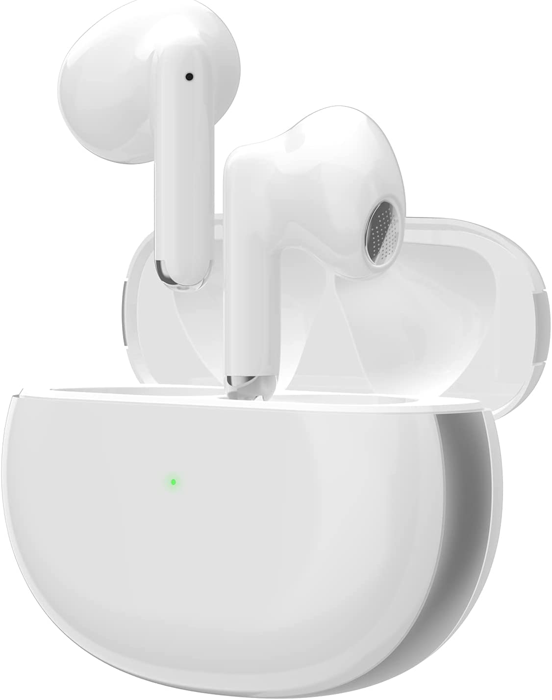 LBZJ Wireless Earbuds Bluetooth 5.2 Headphones with Noise Reduction, Built in Mic Earpods IPX5 Waterproof Headset with Charging Case Air Buds in-Ear Ear Buds Stereo Earphones for iPhone/Android