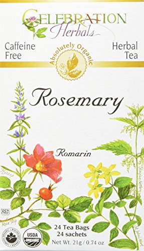 CELEBRATION HERBALS Rosemary Leaf Tea Organic 24 Bag, 0.74 Ounce