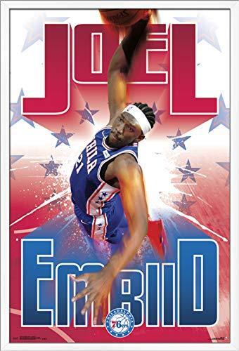 Trends International Philadelphia 76ers – Joel Embiid Wall Poster, 24.25 X 35.75 , Multi