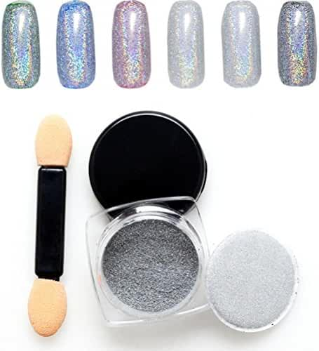 Mchoice SALE! Mirror Powder Chrome Effect Pigment NAILS New Rose Silver Nail Art