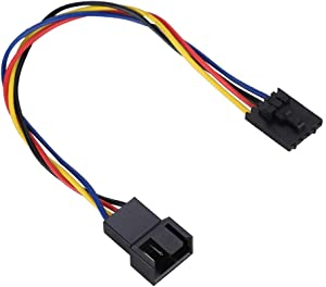 Wendry 5Pcs 5Pin to 4Pin Adapter Cable,4Pin Extension Cable Interface Connector Converter Dedicated Fan Cable for Dell