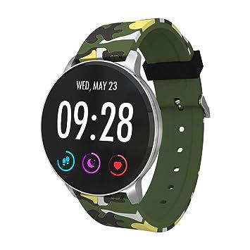TechCode Reloj Deportivo, Monitor de Ritmo cardíaco Rastreador Pulsera Inteligente Rastreador de Actividad Bluetooth Podómetro