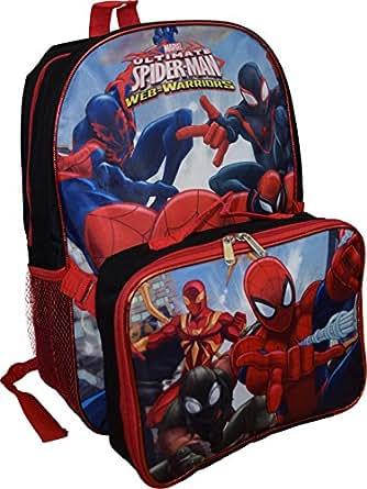 "Amazon.com | Marvel Spiderman Web-Warriors 16"" Backpack W"