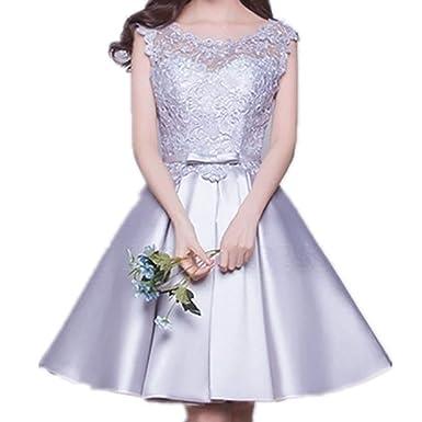 380670e1e90 CG A-Line Princess Scoop Neck Knee-Length Prom Dress with Lace Beading