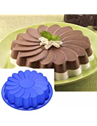 Jareally Silicone Large Flower Cake Mould Chocolate Soap Candy Jelly Mold Baking Pan