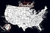 Baseball Stadium Map - Sports Gift for Baseball Fans