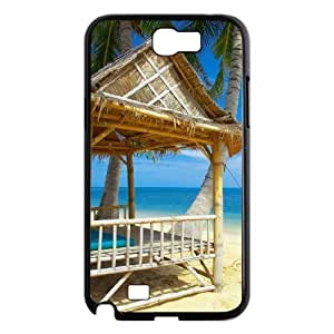 ALICASE Diy Design Back Case Island Beach for Samsung Galaxy Note 2 N7100 [Pattern-1]