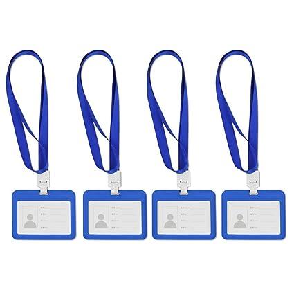 Titular de Credencial de Tarjeta de Identificación, Titular de la Tarjeta de Identificación de Plástico PP Impermeable para Tarjeta de Identificación ...