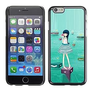Slim Design Hard PC/Aluminum Shell Case Cover for Apple Iphone 6 Plus 5.5 Cute Water Girl / JUSTGO PHONE PROTECTOR