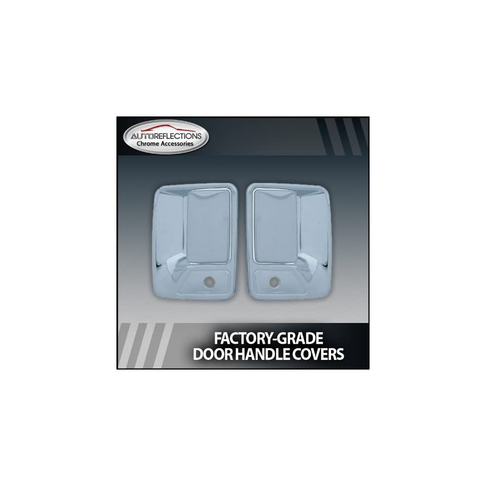 1999 2013 Ford F250/350 Superduty Chrome Door Handle Covers (2dr w/ passenger keyhole)