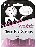 Hollywood Clear Bra Straps 2 pair