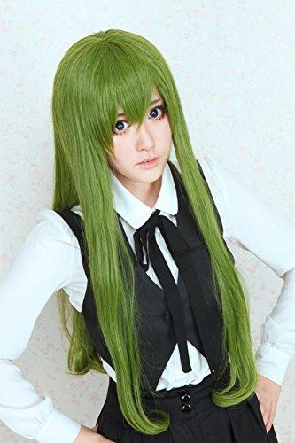 [Lanting Cosplay wig Kuroko no Basuke Midorima Shintaro Green Long Lolita Beauty Woman Anime Human Costume Full wigs Synthetic Hair Heat Resistant] (Female Flasher Adult Costumes)