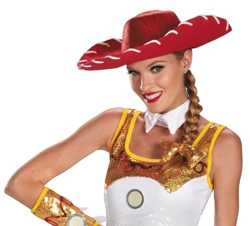 Toy Story Jessie Costume Accessories (JESSIE GLAM COSTUME HAT & BOW SET)