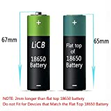 LiCB 18650 Rechargeable Lithium ion Battery 6800mAh 3.7v (Black, Pack of 2)