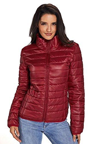 Chaqueta de algodón acolchada BaronHong de cuello alto Rojo