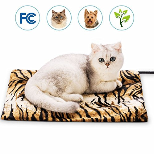 WAYCOM Pet Heating Mat, LED indicating Pet Heating Pad for Dogs & Cats Waterproof and Scratch-Proof Electric Pad Heater Warmer Bed Blanket Heating Pad (Yellow)