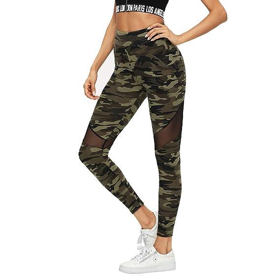 Soly Hux Camo Bunt Camouflage Leggings Sport Damen Leggins Mesh P7PdxqZw