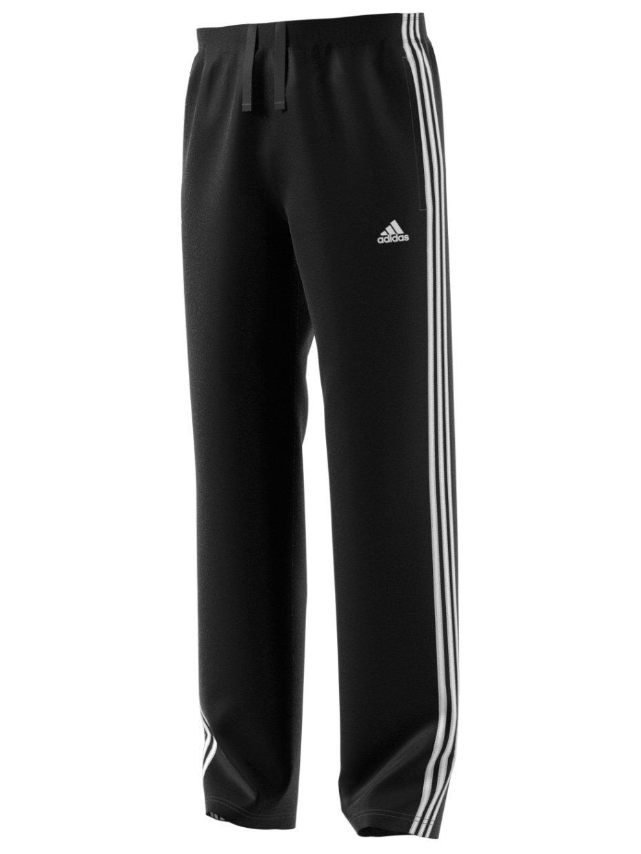 AdidasメンズAthletics Essentialコットンパンツ Medium ブラック/ホワイト B06XS7CMHL