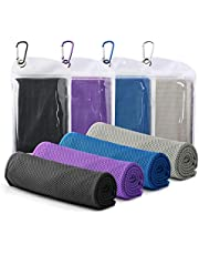 """Famiry 4 Packs Cooling Towel (40""""x 12""""), Ice Towel, Soft Breathable Chilly Towel, Microfiber Towel for Yoga, Sport, Running, Gym, Workout,Camping, Fitness, Workout & More Activities"""
