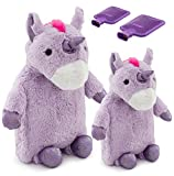 Product review for HomeTop Premium Classic Rubber Hot Water Bottle Family 2 Bottle Set with Cute 3D Unicorn Cover (2L + 1L, Mauve)