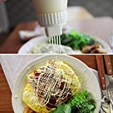 5 Holes Mayo-Canister, Plastic Sauce Squeeze Bottle with Leak Proof Clear Cover Cap, Dispenser.