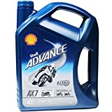SHELL ADVANCE 4T AX7 10W-40 (SL/MA2) MOTORCYCLE 4 STROKE ENGINE OIL 4LTR