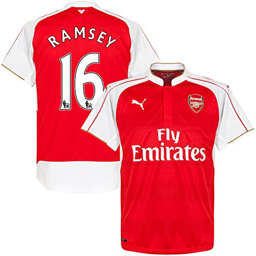 Arsenal Home Ramsey Jersey 2015 / 2016 (Official PS Pro Player Printing) - M